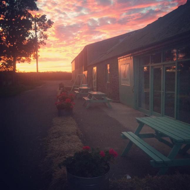Shop closed sunset