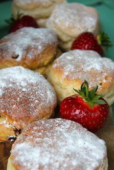 Scones and strawberries